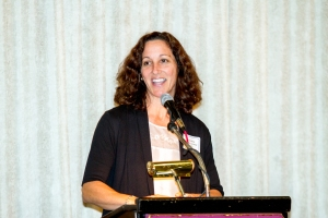 Michele Ellicks speaking at the Senior Connection
