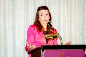 Michelle Tassinari speaking at the Senior Connection