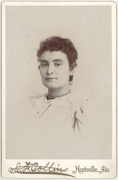 Formal portrait of Anne Sullivan taken around the time she first journeyed to Tuscumbia, Alabama to teach Helen Keller.