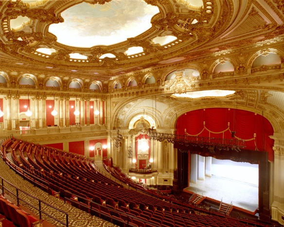 This is the interior of the Boston Opera House which has audio described performances for the visually impaired