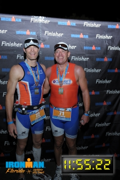 Richard Hunter smiling after completing an Ironman triathalon
