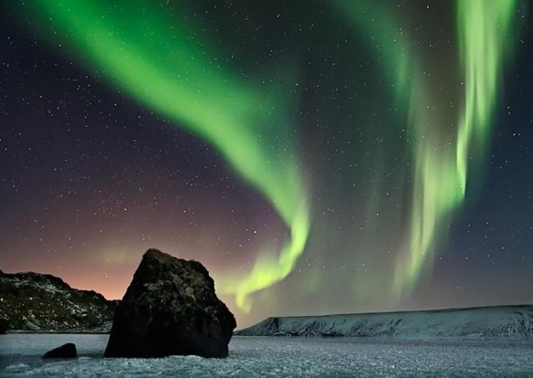 Northern Lights over the Arctic