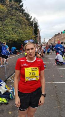 Sinead Kane posing for a picture at the Dublin Marathon