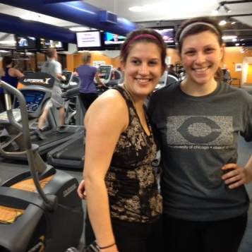 Ilana and Kate posing together at the gym