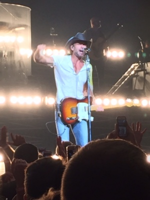 Tim McGraw in concert - photo taken by a consumer and volunteer in attendance